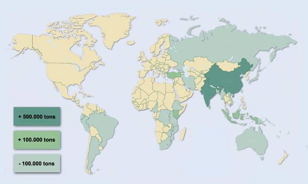 Teas From Almost All Producing Countries In The World JFS - Map of teas